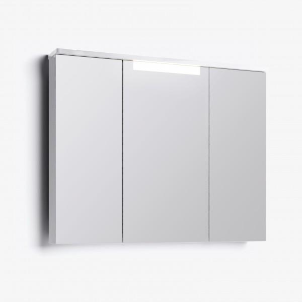 Шкаф зеркальный Лорен 100 белый