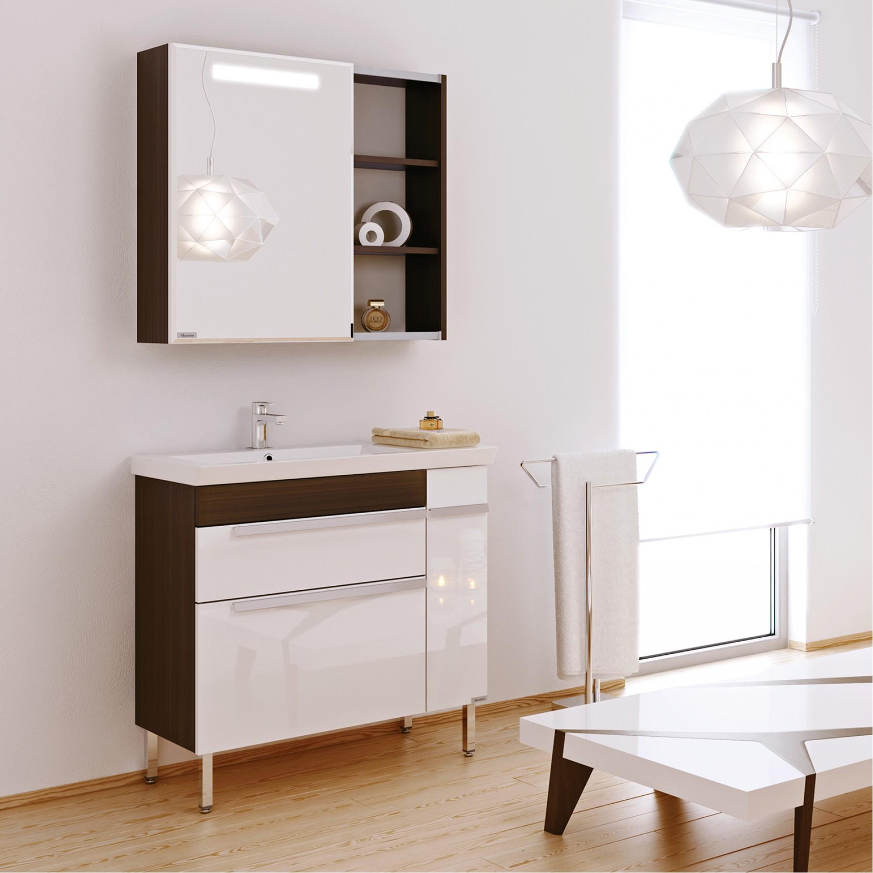 Шкаф зеркальный Marko 80 Венге