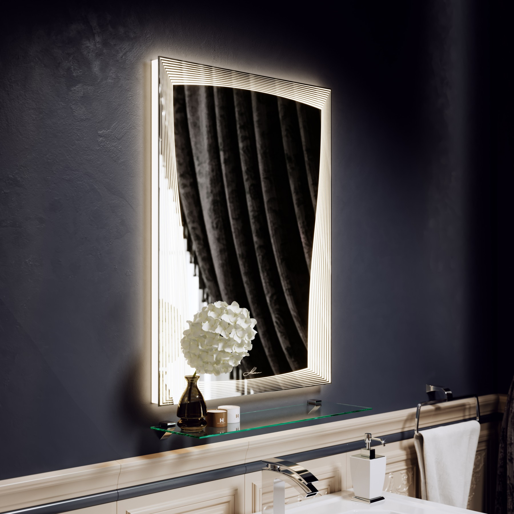 Зеркало с подсветкой Marta 50