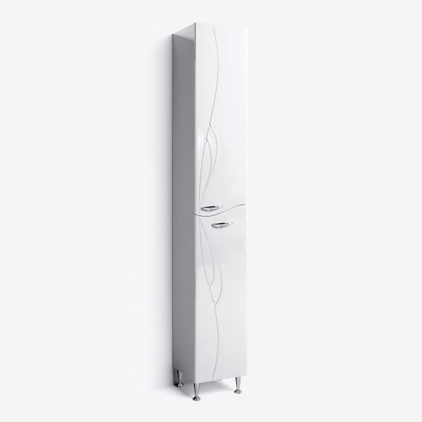 Шкаф-пенал Мишель 30 с корзиной белый