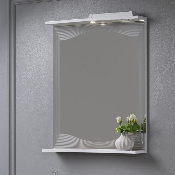 Зеркало с подсветкой и полкой Monaco 60-01