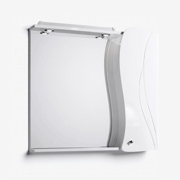 Зеркало-шкаф Вивьен 90 белый