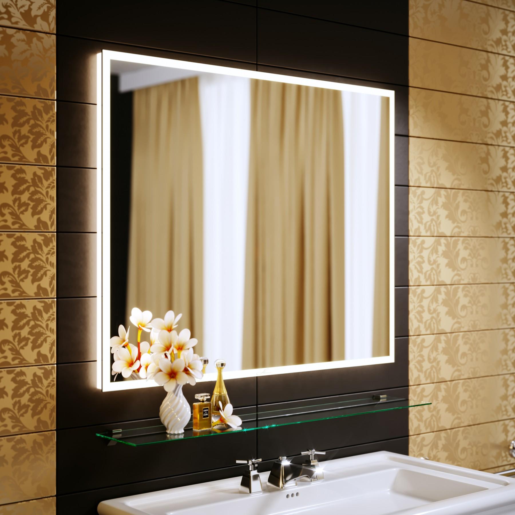 Зеркало с подсветкой Bella 35 900x800