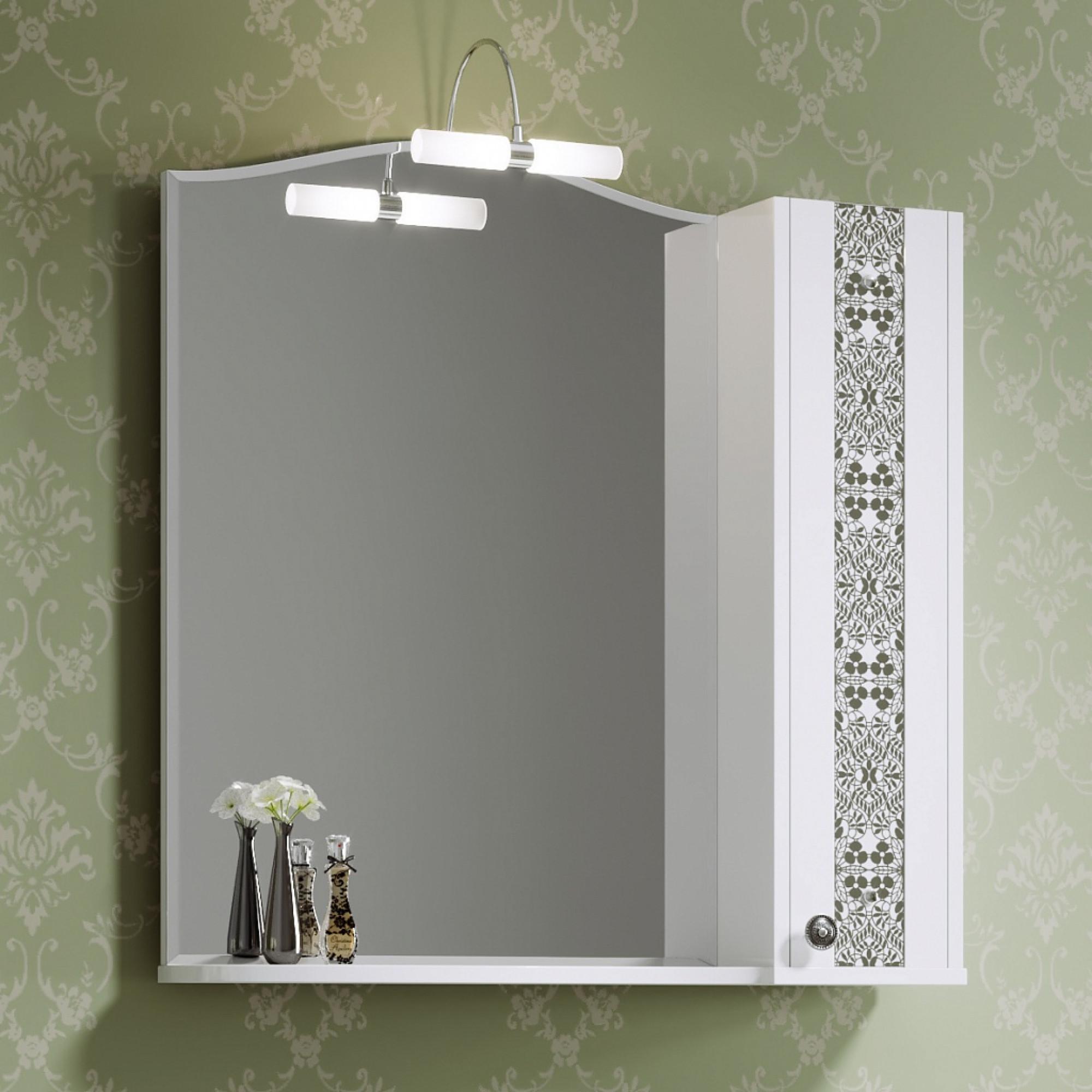Шкаф зеркальный Elizabeth 80 белый