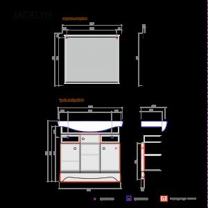 Гарнитур Jacklyn 80 белый