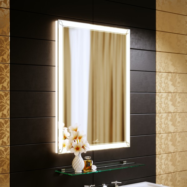 Зеркало с подсветкой Retro 60