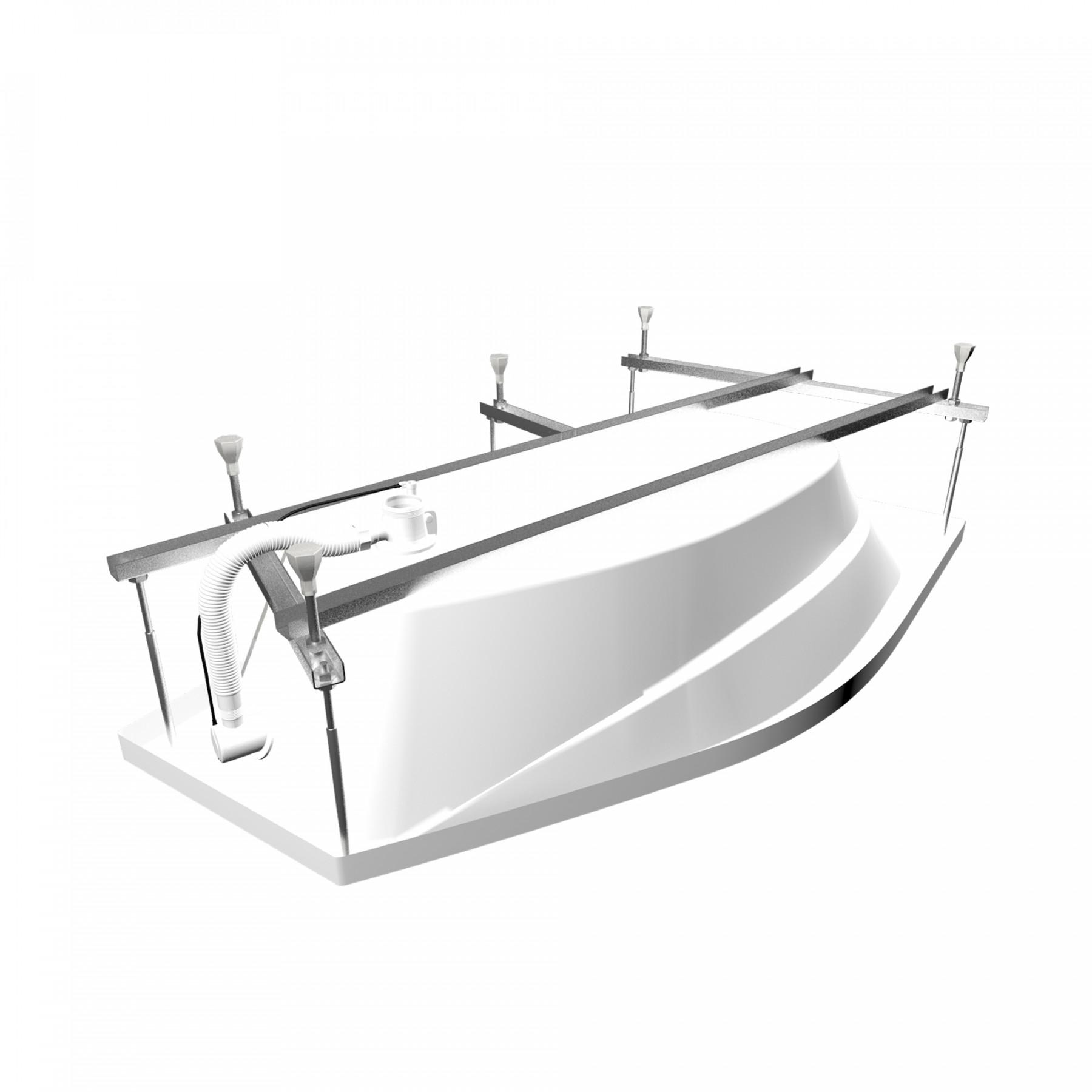 Акриловая ванна Triton Скарлет 167x96 левая