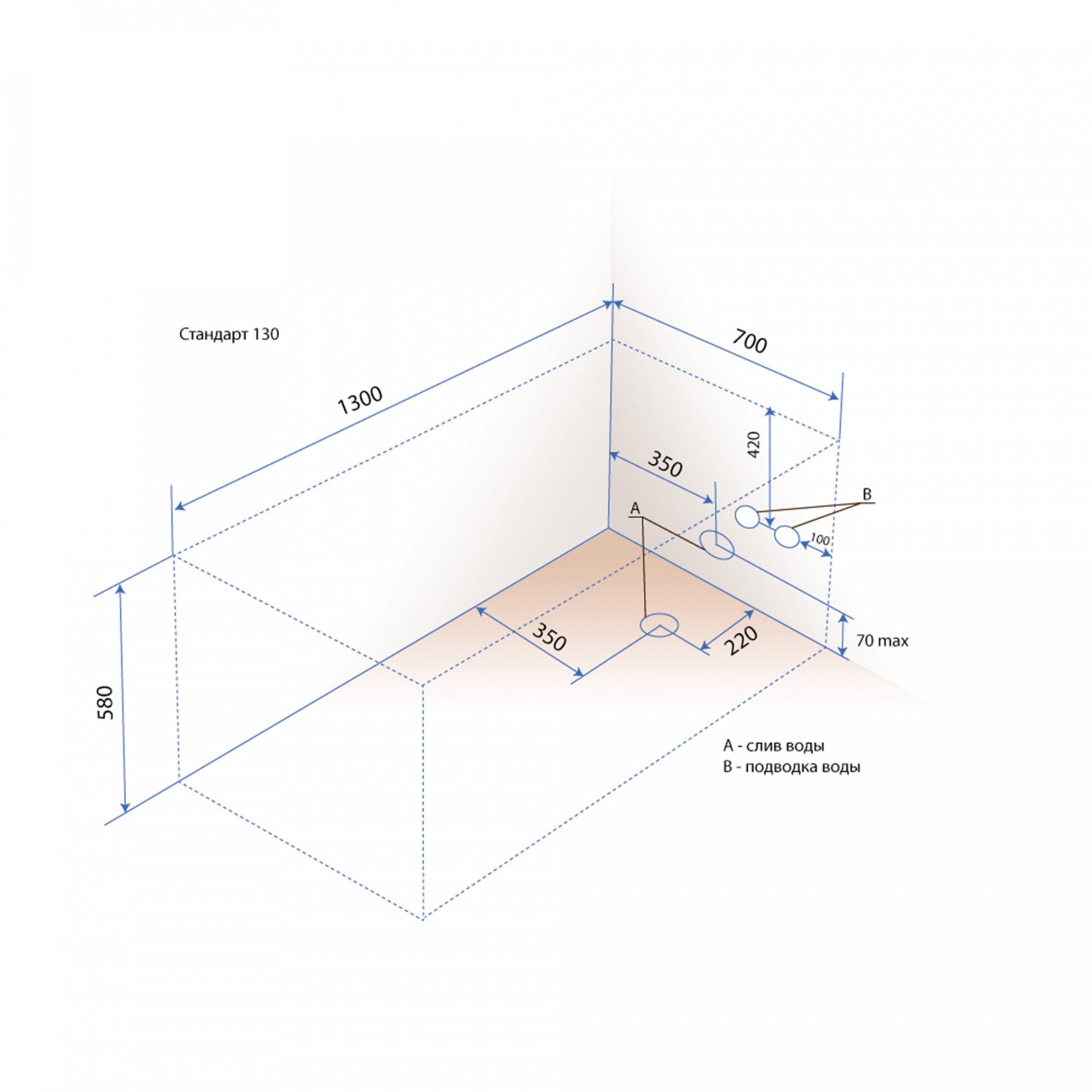 Акриловая ванна Triton Стандарт 130x70
