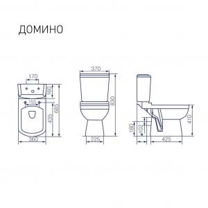 Унитаз-компакт Kirovit Домино с микролифтом