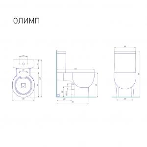 Унитаз-компакт Kirovit Олимп с микролифтом белый