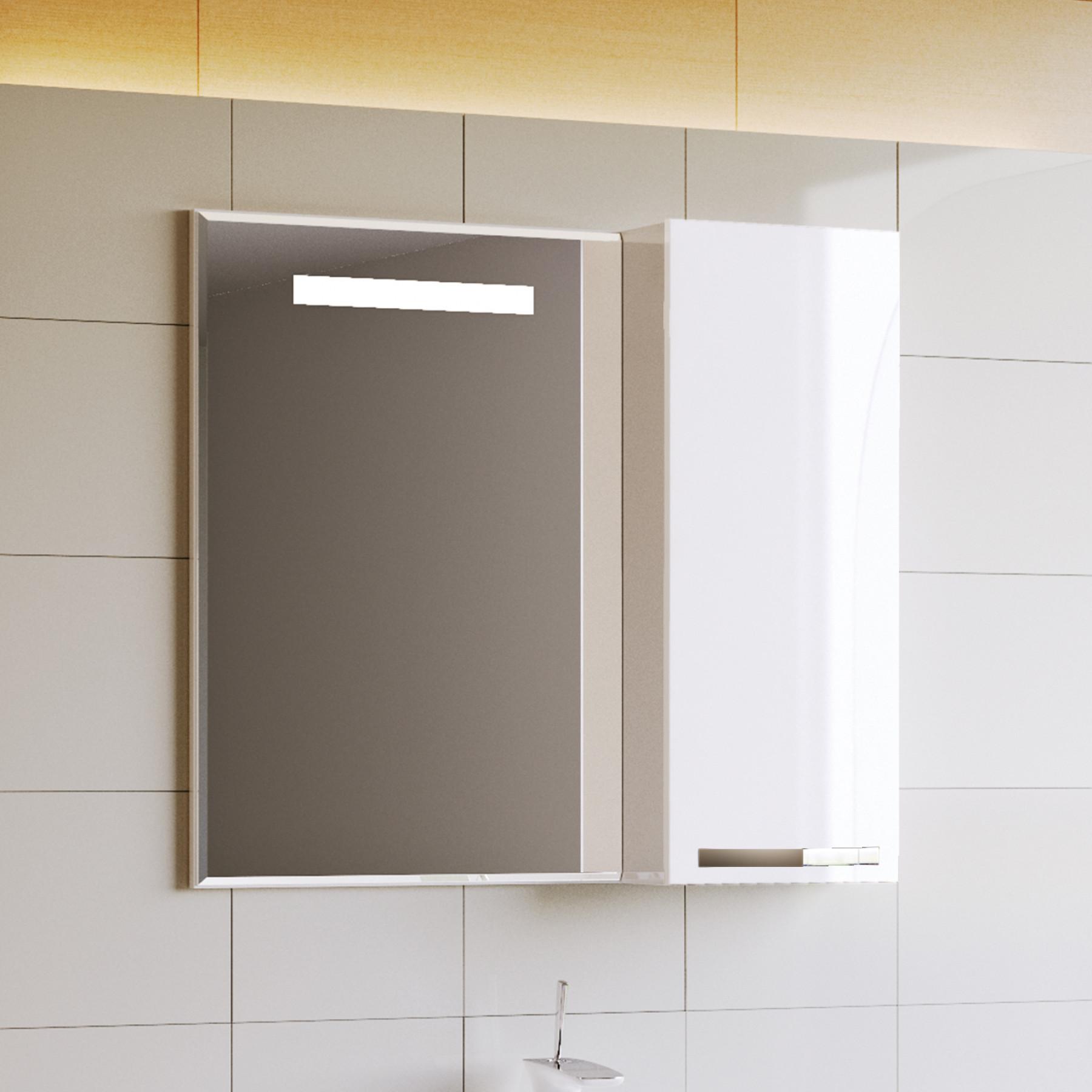 Зеркало-шкаф Latte 82 белый