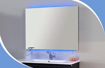 Зеркало для ванной без рамы