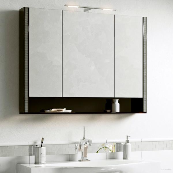 Зеркало шкаф Layra 100 черный Фантом