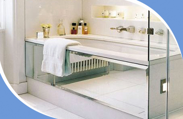 Зеркальные экраны под ванну
