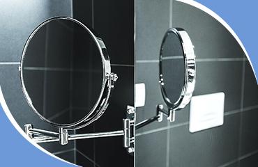 Увеличивающее зеркало в ванной