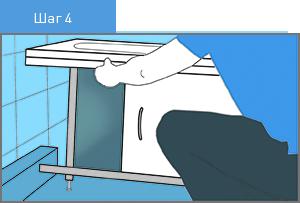 Установка экрана под ванну в распор
