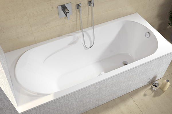 Акриловая ванна с готовым экраном